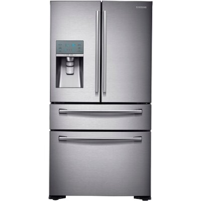 Energy Star 24 Cu. Ft. Counter-Depth 4-Door Refrigerator with FlexZone Drawer