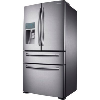 Samsung Energy Star 24 Cu. Ft. Counter-Depth 4-Door Refrigerator with FlexZone Drawer