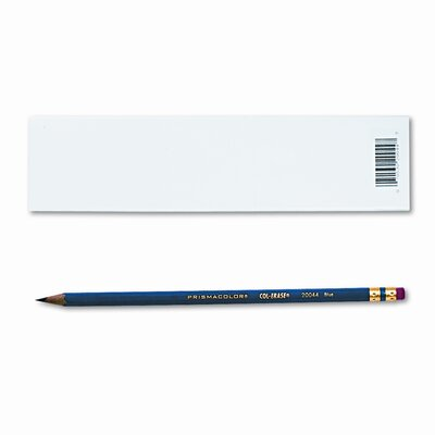 Sanford Ink Corporation Col-Erase Pencil with Eraser, Blue Lead, Blue Barrel, Dozen
