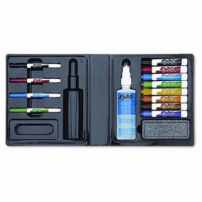 Sanford Ink Corporation Dry Erase Marker/Eraser/Cleaner, Chisel/Fine, Assorted, 12/Set