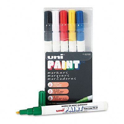 Sanford Ink Corporation Uni-Paint Markers, 6/Set