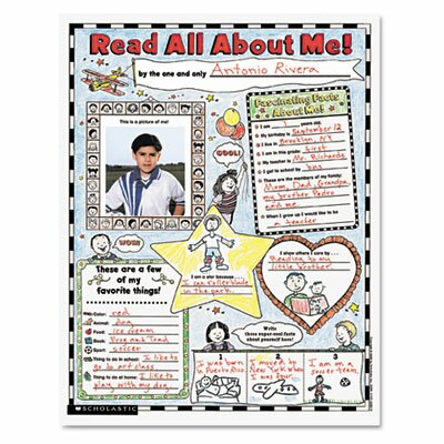 Scholastic Instant Personal Poster Sets, Read All About Me, 30/Pack