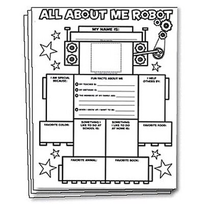 Scholastic All About Me Robot Graphic