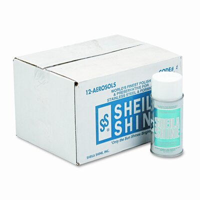 Sheila Shine Stainless Steel Cleaner & Polish Aerosol Can, 12/Carton