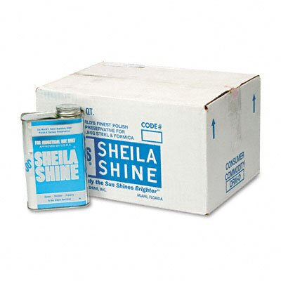 Sheila Shine Stainless Steel Cleaner & Polish Can, 12/Carton