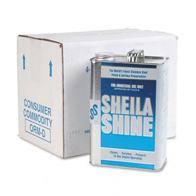 Sheila Shine Stainless Steel Cleaner & Polish Can, 4/Carton