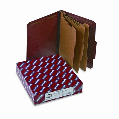 "Smead Manufacturing Company Folders, Letter, 3 Partition, 3"" Expansion, Letter, Red/Gray"