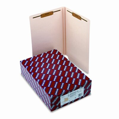 Smead Manufacturing Company Two Fasteners End Tab Heavy W-Fold Expansion Folders, 50/Box
