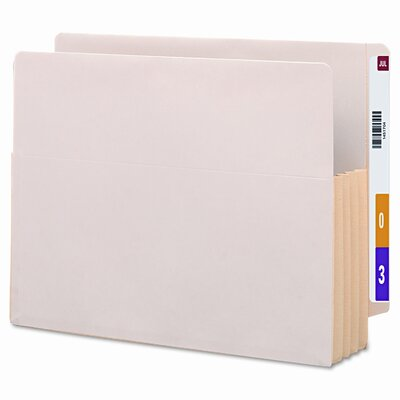 "Smead Manufacturing Company 3.5"" Accordion Expansion End Tab File Pockets with Tyvek, 10/Box"