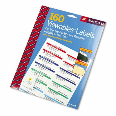 Smead Manufacturing Company Viewables Pack Refill Labeling System, 160/Pack