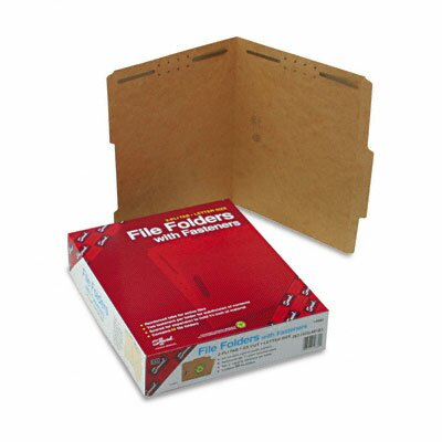 Smead Manufacturing Company Two Fasteners 2/5 Cut Top Tab 11 Point Kraft Folders, Letter, 50/Box