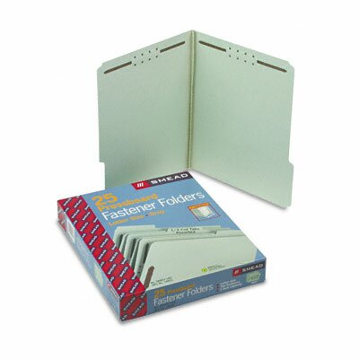 Smead Manufacturing Company 1/3 Top Tab Fastener Folder, Letter, 25/Box