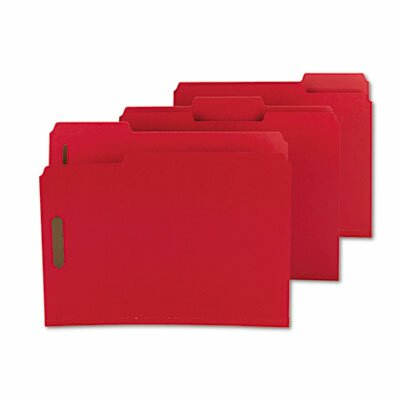 Smead Manufacturing Company Colored Pressboard Fastener Folders, Letter, 25/Box