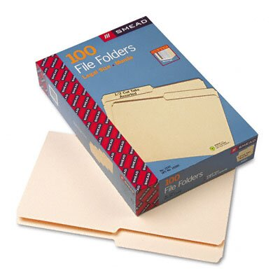 Smead Manufacturing Company 1/2 Cut One-Ply Top Tab File Folders, 100/Box