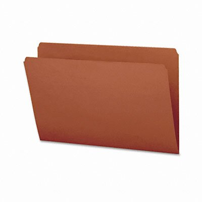 Smead Manufacturing Company Straight Cut File Folders, Reinforced Top Tab, Legal, 100/Box