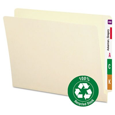 Smead Manufacturing Company End Tab Folders, 100/Box