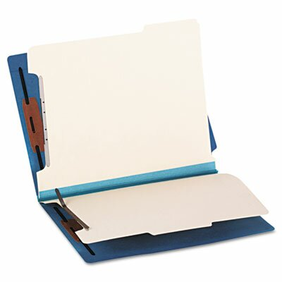 Smead Manufacturing Company Six-Section Colored End Tab Classification Folders, Letter, 10/Box