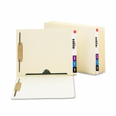 Smead Manufacturing Company Pocket Folder, 2 Fasteners, Straight Reinforced End Tab, Letter, Manila, 50/Box