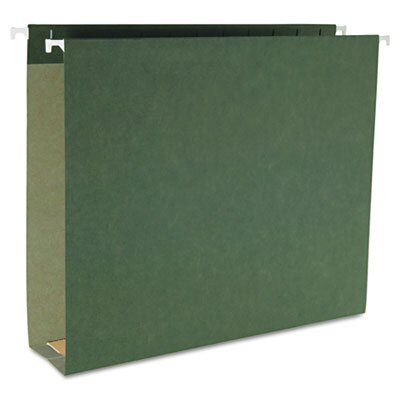 "Smead Manufacturing Company 2"" Capacity Box Bottom Hanging File Folders, Letter, Green, 25/Box"