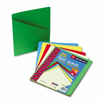 Smead Manufacturing Company Slash Pocket Folders, 25/Pack