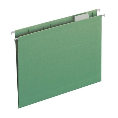 Smead Manufacturing Company Colored Hanging Folders, 1/5 Tab Cut, Letter Size, Various Colors