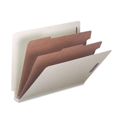 Smead Manufacturing Company 6-Section Pressboard Classification End Tab Folder, 10/Box