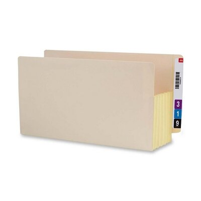 "Smead Manufacturing Company 5.25"" Accordion Expansion End Tab File Pockets with Tyvek, 10/Box"