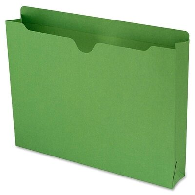 "Smead Manufacturing Company File Jacket with 2-Ply Tab and 2"" Accordion Expansion, Letter, 50/Box"