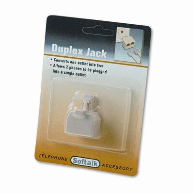 Softalk, LLC Telephone Duplex Jack, Ivory
