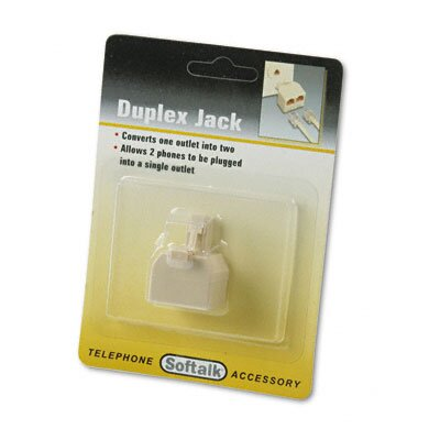 Softalk, LLC Telephone Duplex Jack, Ivory
