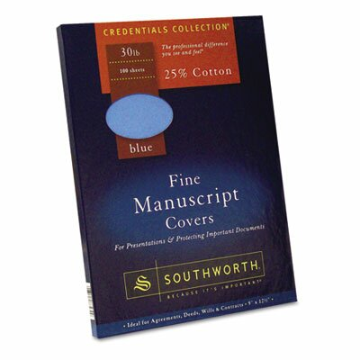 Southworth Company 25% Cotton Manuscript Covers, 100/Box