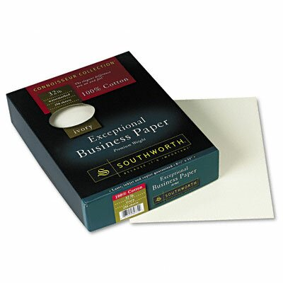 Southworth Company 100% Cotton Business Paper, 250/Box