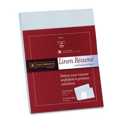 Southworth Company Resume Presentation Envelopes, 9 x 12, 25/Pack, White