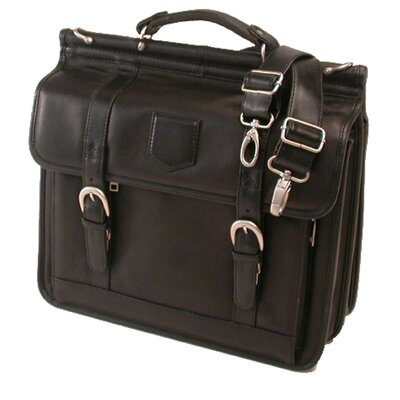 <strong>Stebco LLC</strong> Premium Soft Leather Laptop Briefcase