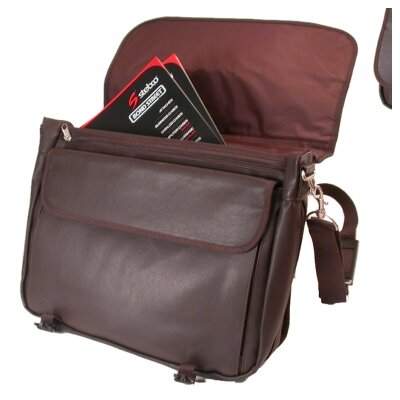 Stebco LLC Leather Look Expandable Briefcase Messenger Bag