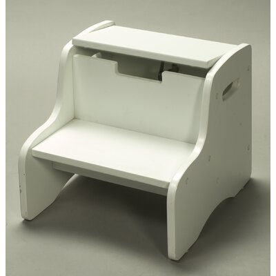 Gift Mark Storage Step Stool in White