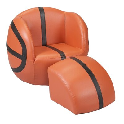 Basketball Kid's Novelty Chair and Ottoman Set