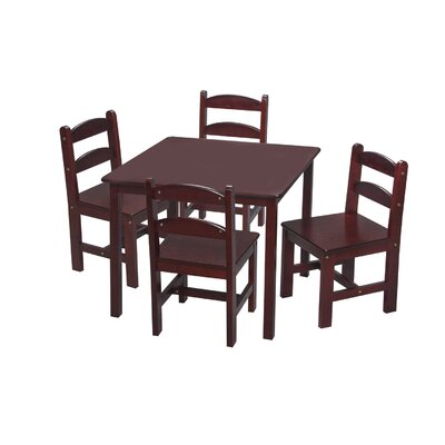 Gift Mark Kids 5 Piece Table and Chair Set