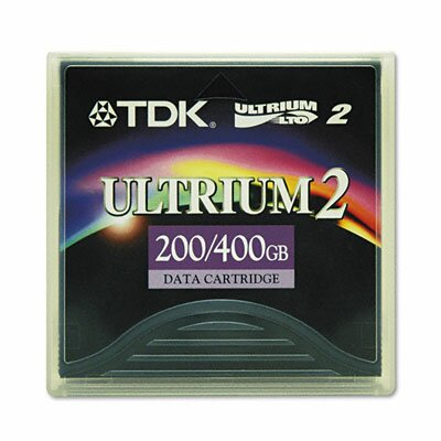 "TDK 0.5"" Ultrium Lto-2 Cartridge, 1998Ft, 200Gb Native/400Gb Compressed Capacity"