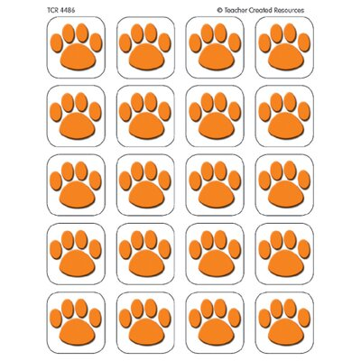 Teacher Created Resources Orange Paw Print Stickers