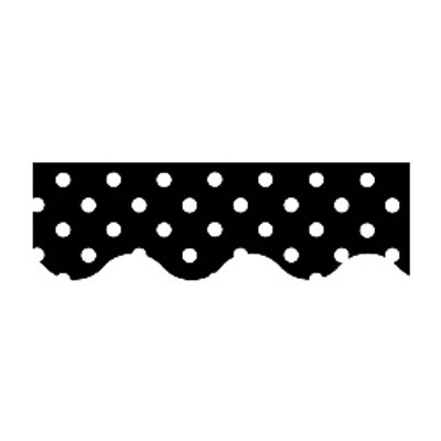 Teacher Created Resources Black Mini Polka Dots Border Trim