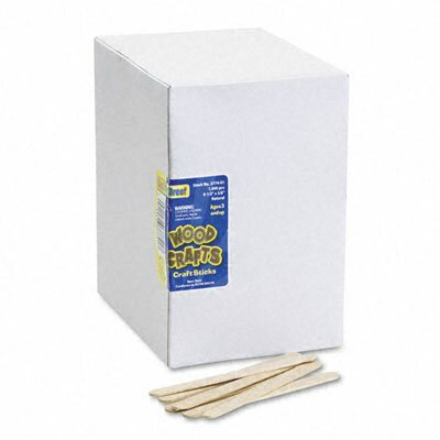 The Chenille Kraft Company Natural Wood Craft Sticks, 4 1/2 X 3/8, 1000/Box