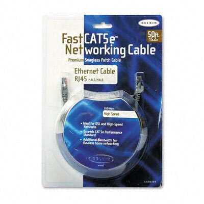Belkin Fastcat 5E Snagless Patch Cable, Rj45 Connectors, 50 Ft.