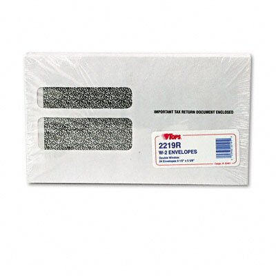 Tops Business Forms Double Window Tax Form Envelope / Continuous W-2 Forms, 24/Pack
