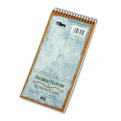 Tops Business Forms Second Nature Spiral Reporter/Steno Notebook, Gregg Rule, 70-Sheet