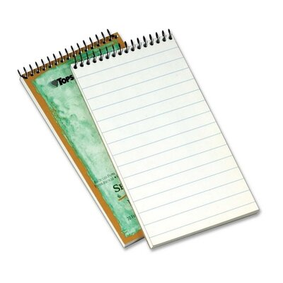"Tops Business Forms Reporters Notebook, Pitman Ruled, 1-Subject, 70 Sh, 4""x8"", White"
