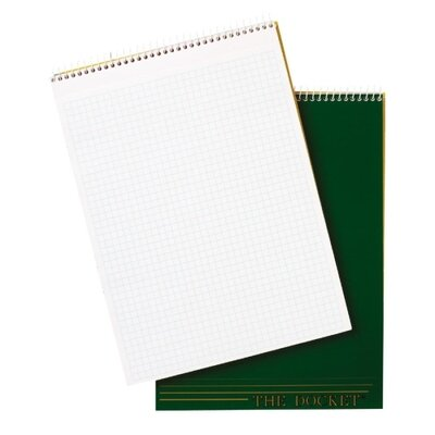 "Tops Business Forms Quadrille Pad, 8-1/2""x11-3/4"", 70 Sheets, 4 Squares Per Inch, White"