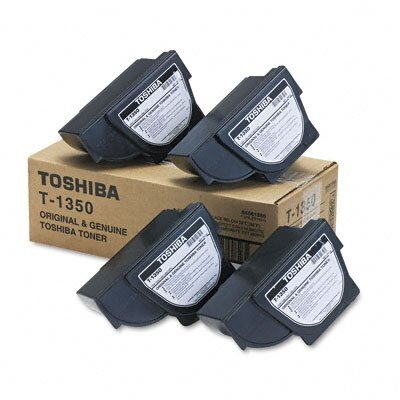 Toshiba T1350 Laser Cartridge, 4/Carton, Black