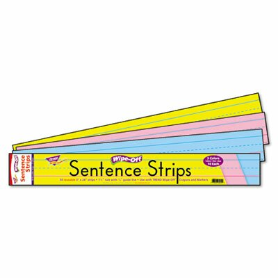 Trend Enterprises Wipe-Off Sentence Strips, 30/Pack