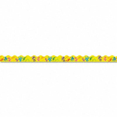 Trend Enterprises Terrific Trimmers Bright Border, Helping Hands, 12/Pack